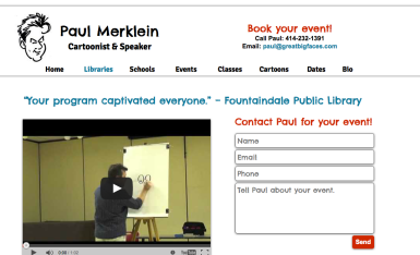 Virtual Assistant Website Redesign: Paul Merklein