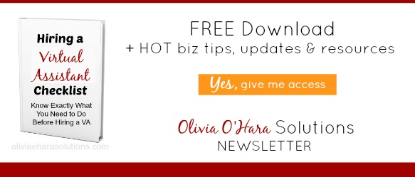 Olivia O'Hara Solutions Newsletter