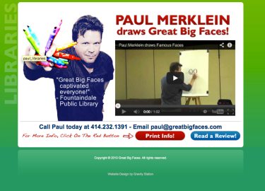 Great Big Faces- Website Redesign